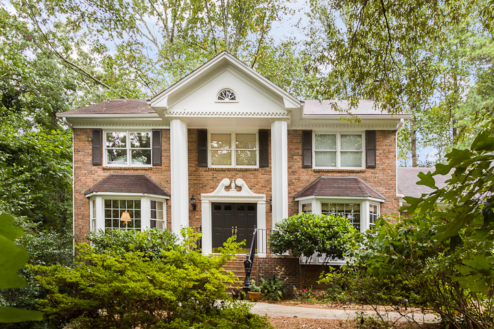 Classic colonial brick home located in the heart of one of for Custom colonial homes